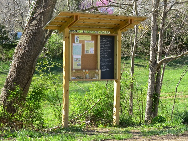 Augusta Bird Club bulletin board kiosk