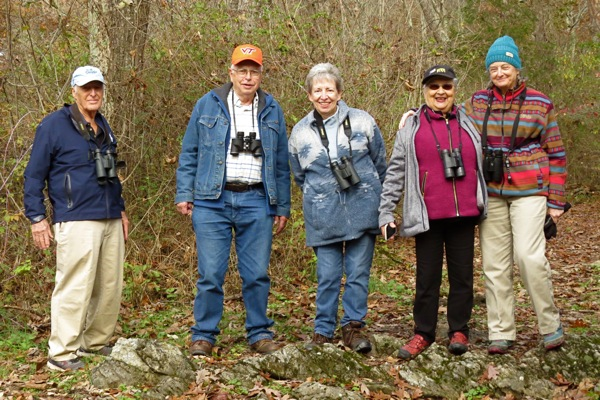 Birders at McCormicks Mill 7 Nov 2018