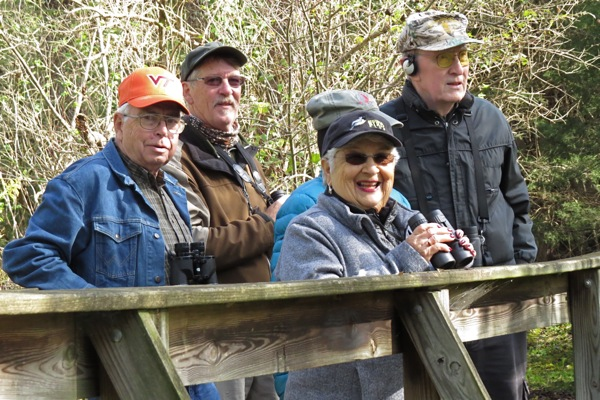 Birders at McCormicks Mill 17 Oct 2018