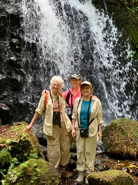 Lisa, Ann, Linda at Panama waterfall